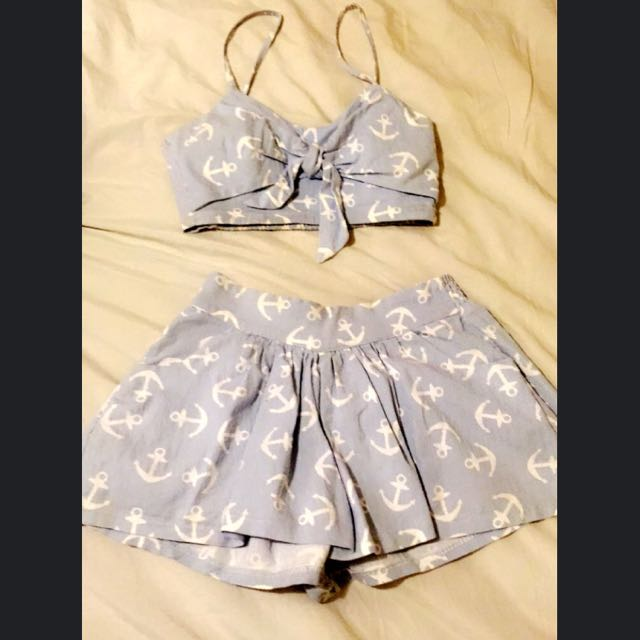 Princess Lolly Two Piece Set. Crop And Shorts