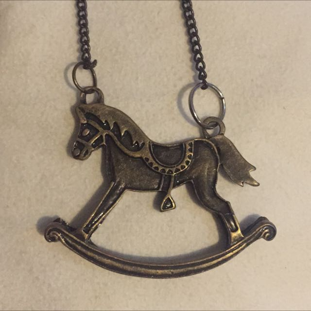 Rocking Horse Long Chain Necklace