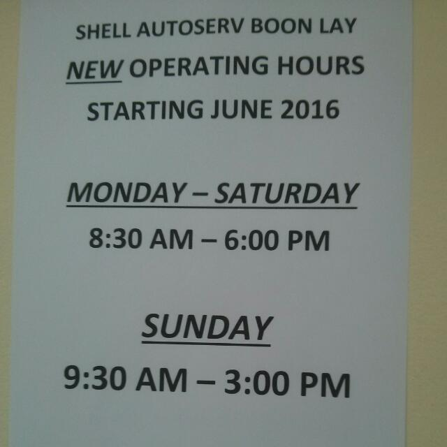 Shell Autoserv Boon Lay Now Open Every Sunday Car Accessories On