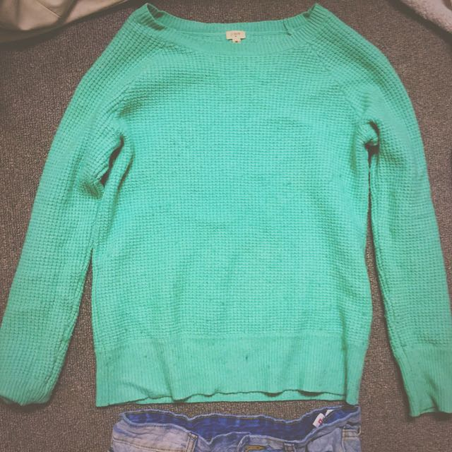 Teal Jcrew Sweater