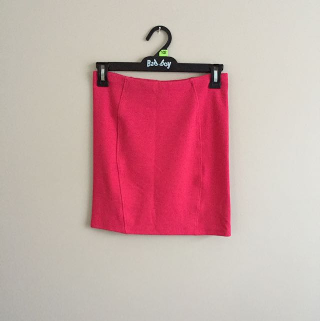 Topshop Red Mini Skirt