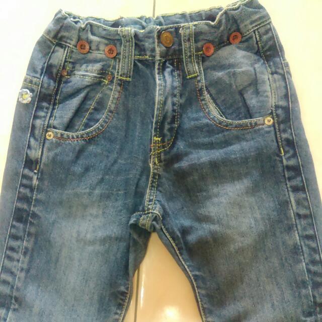 ZARA男童牛仔褲4-5Y 110cm