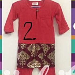 Brand New Red Romper With Samping (12 Months)