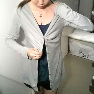 Long Grey Cardigan