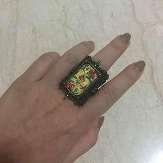 cincin floral vintage