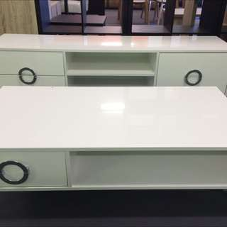 White Coffee Tables & TV Unit/stand