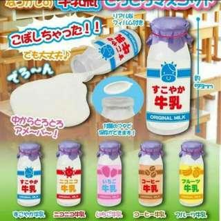徵收 牛奶瓶 扭蛋 擺飾