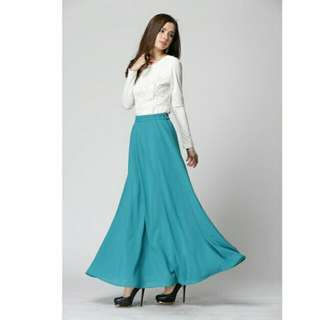 Long Skirt With Inner Layer With Variety Colors