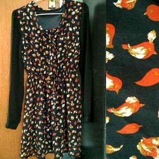 Vintage Bird Dress