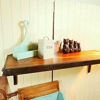 免運費 - 工業風原木壁掛層架/層板/置物架  Zakka  IKEA