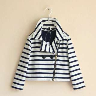 Girls GAP Striped Zip Up Jacket 😍