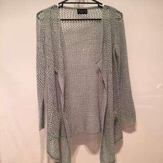 Teal Knit Kimono