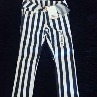 Zara Girls Striped Jeans
