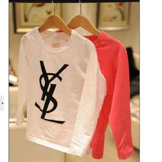 *Not Genuine* YSL kids Long Sleeve Shirts