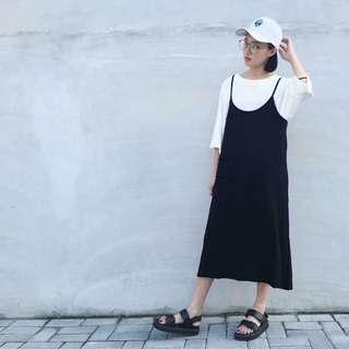 黑色吊帶裙💓