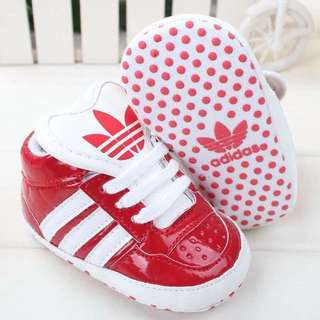 Candy Apple Red Unisex Adidas Shoes 🍎