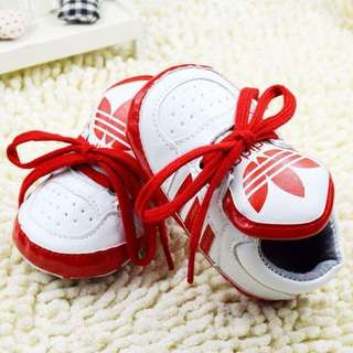 Lave Up Adidas Pre Walker Shoes ( Red & White)