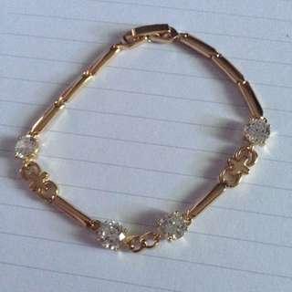 Gelang Titanium Lapis Emas Gold