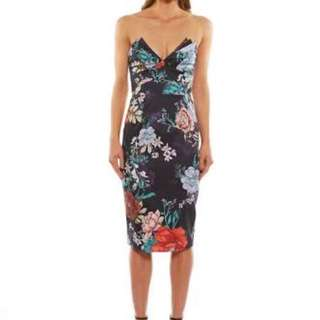 Talulah size S floral strapless dress