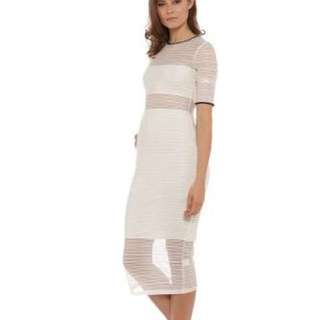 Blessed are the meek ivory mesh swelt dress size 0 (6-8)