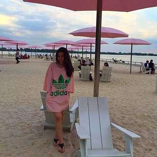 Pink Adidas tshirt dress