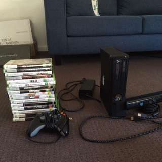 Xbox 360 And Kinect Games/ Xbox 360 Kinect Console