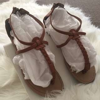 Brown Flats Size8