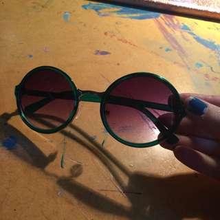 Green Frame Sunnies