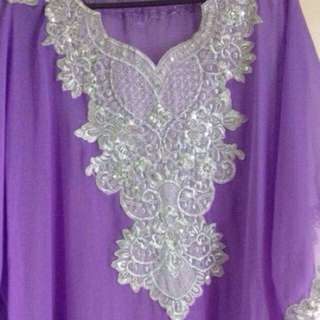 Kaftan Long Dress(reserved for Hajjahmami)