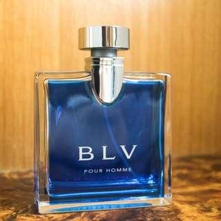 寶格麗-藍茶男性淡香水-100ml/Bvlgari-BLV Pour Homme-100ml(二手 香水 原廠 玻璃 噴瓶 皂香 男香)