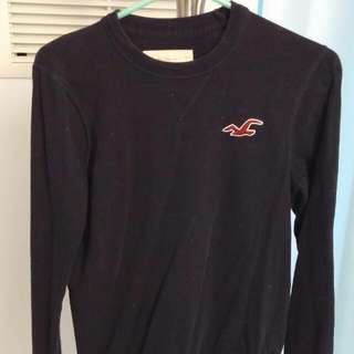 Hollister Navy Blue Shirt Small