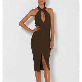 Meshki Cut Out Midi Dress