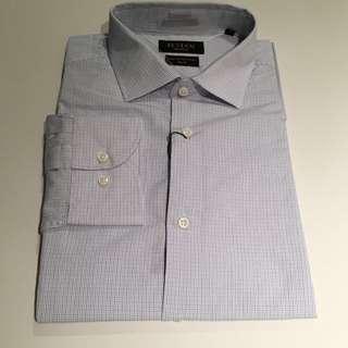 Navy blue Check Slim Fit Shirt