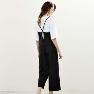 轉賣 PAZZO 後設計系帶 連身長褲