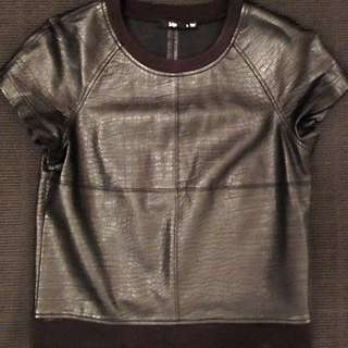 Structured pleather Top