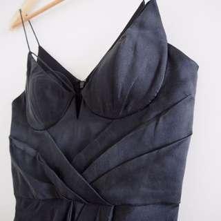 Charcoal Sueded Silk Zimmermann Dress - Size 0