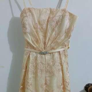Pinkish Creamy Dress