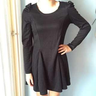 黑色內搭傘裙