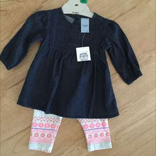 Baby's 0-3 Months Girls Outfit
