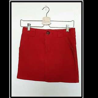 ☆紅系口袋短裙☆