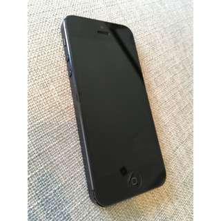 黑色16G二手 iphone 5 狀況好