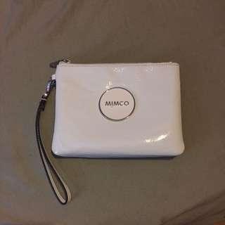 Mimco White Double Pouch