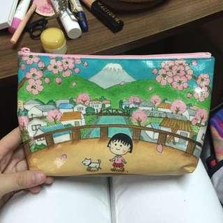 日本可愛櫻花小丸子化妝包