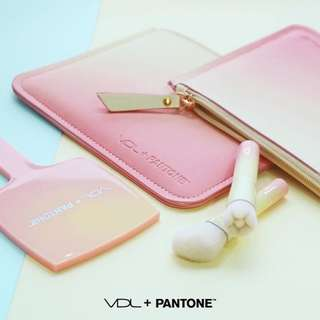 [Korea]VDL x pantone Kit (2 brushes + cosmetic bag) - free shipping
