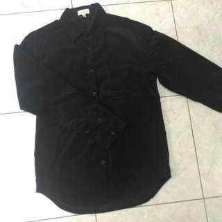 IBS 法蘭絨襯衫 合身款 M 黑色