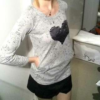 Love Hearts Grey Jumper