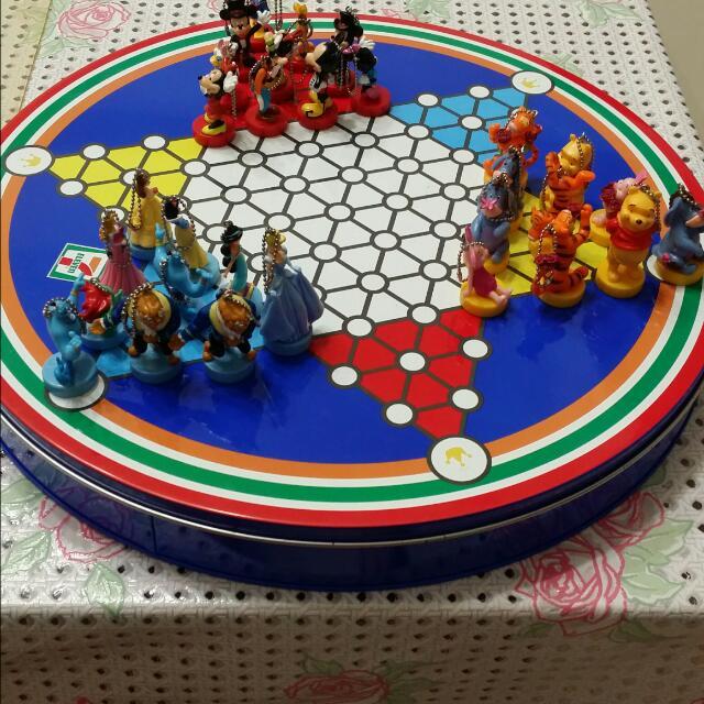 7-11 迪士尼跳棋公仔+鐵盒