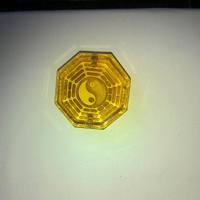 黃水晶太極墜飾