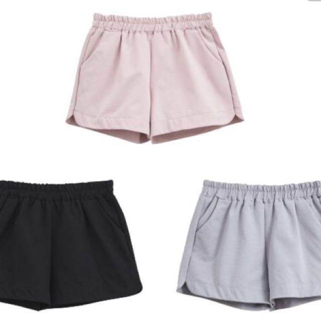 全新-粉色短褲