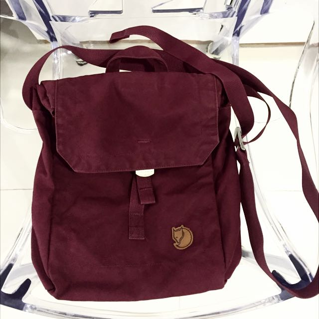 1ad7cc3a8e0a 🇬🇧Authentic Fjallraven Kanken Burgundy Red PostMan Bag - I Love ...